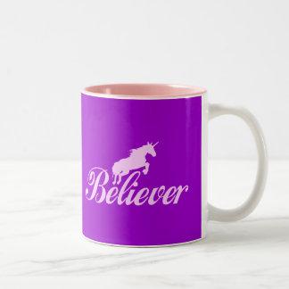 N.A.U.B Unicorn Believers Two-Tone Coffee Mug