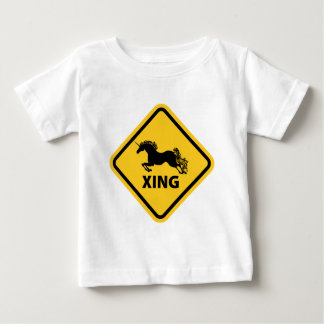 N.A.U.B Unicorn Crossing Sign Baby T-Shirt
