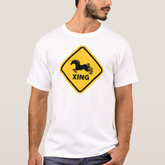 N.A.U.B Unicorn Crossing Sign T-Shirt