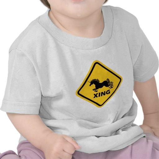 N.A.U.B Unicorn Crossing Sign Shirts