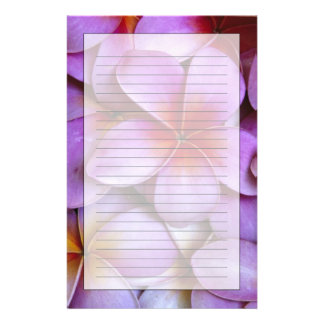 N.A., USA, Maui, Hawaii. Pink Plumeria blossoms. Customised Stationery