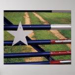 N.A., USA, Texas, Lake Buchanan, Texas flag Poster