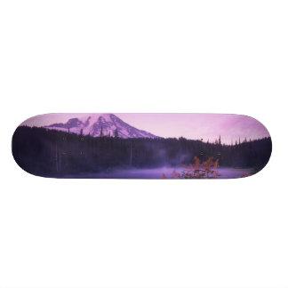 N.A., USA, Washington, Mt. Rainier National Skate Board Deck