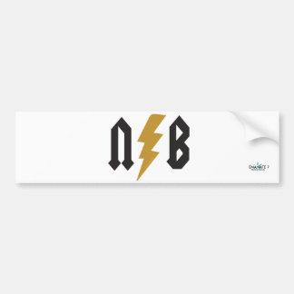 N.B. Lightning Bumper Sticker