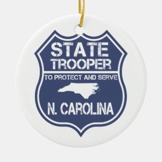 N. Carolina State Trooper To Protect And Serve Ceramic Ornament