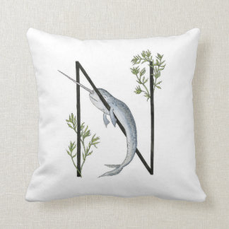 N is for Narwhal pillow! Cushion