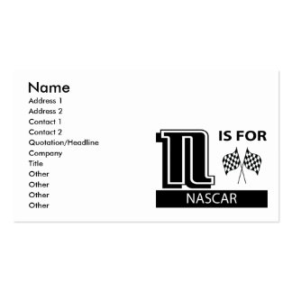 N Is For NASCAR Business Card Templates