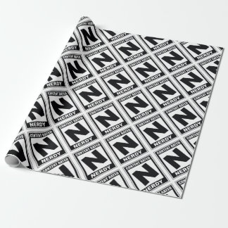 N is for Nerdy Wrapping Paper