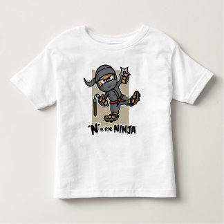 """N"" is for Ninja Toddler T-Shirt"