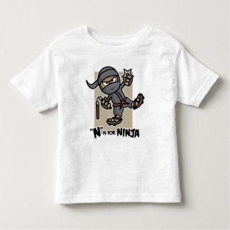 """N"" is for Ninja Toddler T-Shirt"