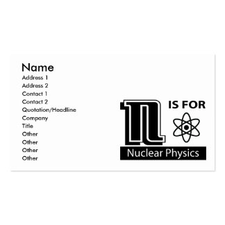 N Is For Nuclear Physics Business Card