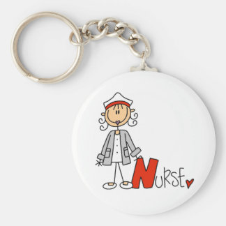 N is for Nurse Basic Round Button Key Ring