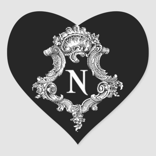 N Monogram Initial Sticker