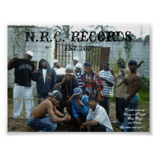 N.R.C. Records  Poster