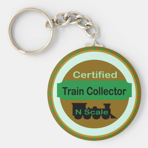 N Scale Train Collector Keychain
