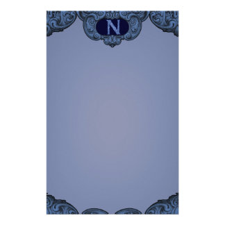 N - The Falck Alphabet (Blue) Personalised Stationery
