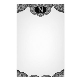 N - The Falck Alphabet (Silvery) Customised Stationery