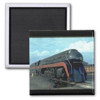 N&W 4-8-4 #611. (train;sky;clouds;track;)_Trains Magnet