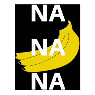 Na Na Na Banana Illustration Design Text Postcard