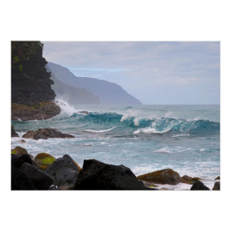 Na Pali Coast, Kauai, Hawaii, Poster