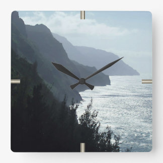 Na Pali Coast Square Wall Clock