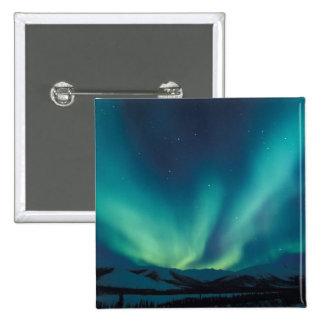 NA, USA, Alaska, Brooks Range, Curtains of green 15 Cm Square Badge