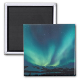 NA, USA, Alaska, Brooks Range, Curtains of green Square Magnet