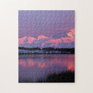 NA, USA, Alaska, Denali NP, Mt. McKinley Jigsaw Puzzle