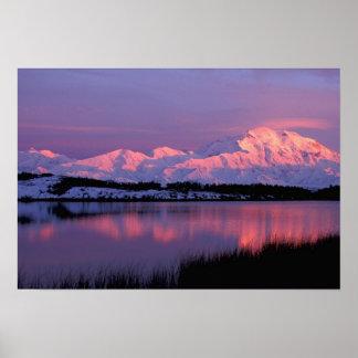 NA, USA, Alaska, Denali NP, Mt. McKinley, Poster