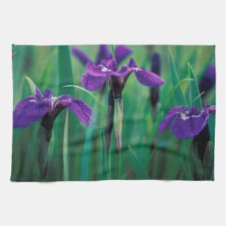 NA, USA, Alaska, Knight Island, Wild iris Kitchen Towel