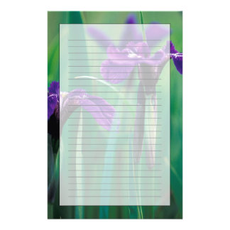 NA, USA, Alaska, Knight Island, Wild iris Stationery