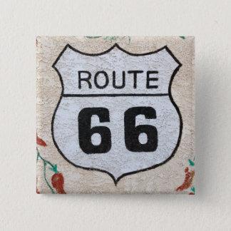 NA, USA, Arizona, Holbrook Route 66 street sign 15 Cm Square Badge
