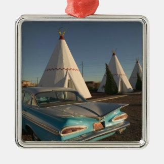 NA, USA, Arizona, Holbrook Route 66, Wigwam Metal Ornament