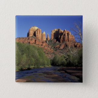 NA, USA, Arizona, Sedona. Cathedral Rock and Oak 15 Cm Square Badge