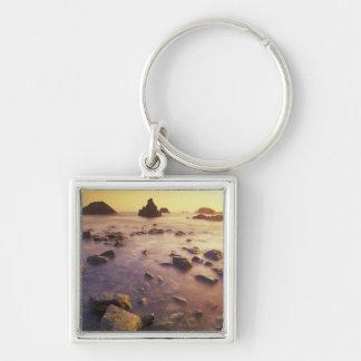 NA, USA, California, Northern California, Silver-Colored Square Key Ring