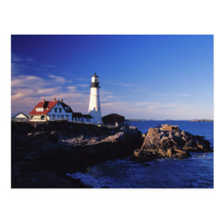 NA, USA, Maine. Portland Head lighthouse. Postcard