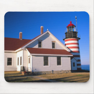 NA, USA, Maine.  West Quoddy lighthouse near Mousepads