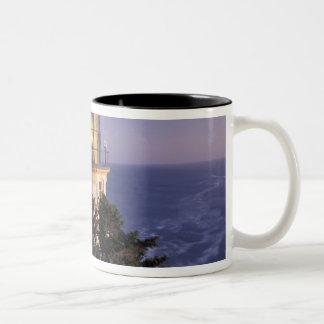 NA, USA, Oregon, Heceta Head Lighthouse, Two-Tone Mug