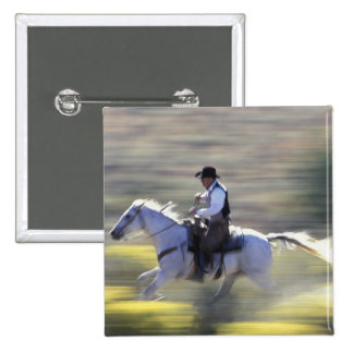 NA, USA, Oregon, Seneca, Ponderosa Ranch, Cowboy 15 Cm Square Badge