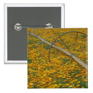 NA, USA, Oregon. Watering system in field of 15 Cm Square Badge