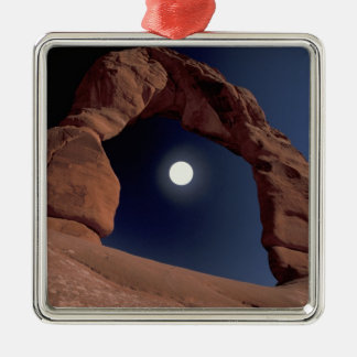 NA, USA, Utah, Arches National Park. Delicate Silver-Colored Square Decoration