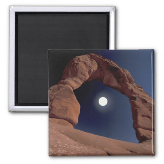 NA, USA, Utah, Arches National Park. Delicate Square Magnet