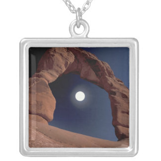 NA, USA, Utah, Arches National Park. Delicate Square Pendant Necklace