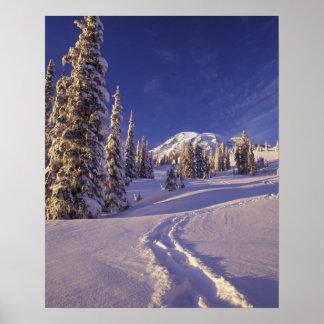 NA, USA, Washington, Mt. Rainier NP, Snowshoe Poster