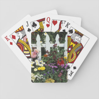 NA, USA, Washington, Sammamish, White picket Playing Cards