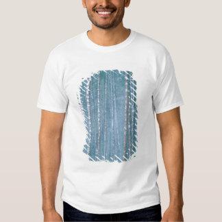NA, USA, WY. Snowy winter scene among Tee Shirt