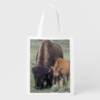 NA, USA, Wyoming, Yellowstone National Park. Reusable Grocery Bags