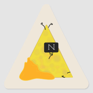 NACHO BAG Tortilla Chip with Cheese Toting a Bag Triangle Sticker