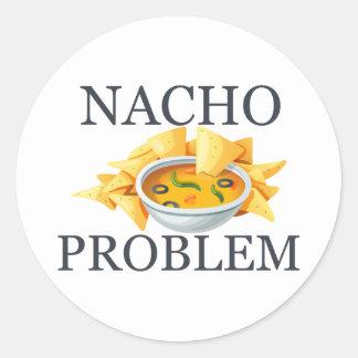 Nacho Problem Classic Round Sticker