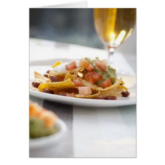 Nachos and Beer Greeting Card